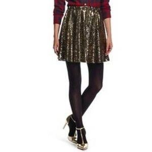 Xhilaration Gold Sequin Skater Skirt